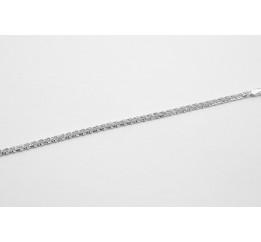 Браслет серебряный Плоский бисмарк (702б)