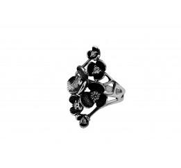 Кольцо серебряное Сакура (100634)