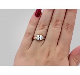 Кольцо серебряное с золотом (0252.10к)