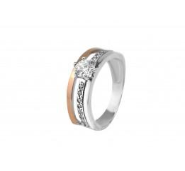 Кольцо серебряное с золотом (0112.10к)