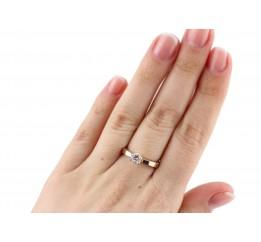 Кольцо серебряное с золотом (0025.10к)