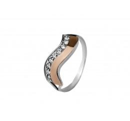 Кольцо серебряное с золотом (0096.10к)