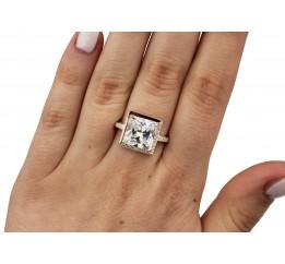Кольцо серебряное с золотом (0064.10к)