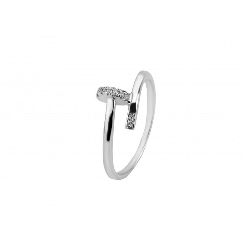 Кольцо серебряное с фианитом в стиле Cartier (К2Ф/723)