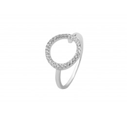 Кольцо серебряное с фианитом (К2Ф/297)