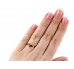 Кольцо серебряное с позолотой (К3/511)