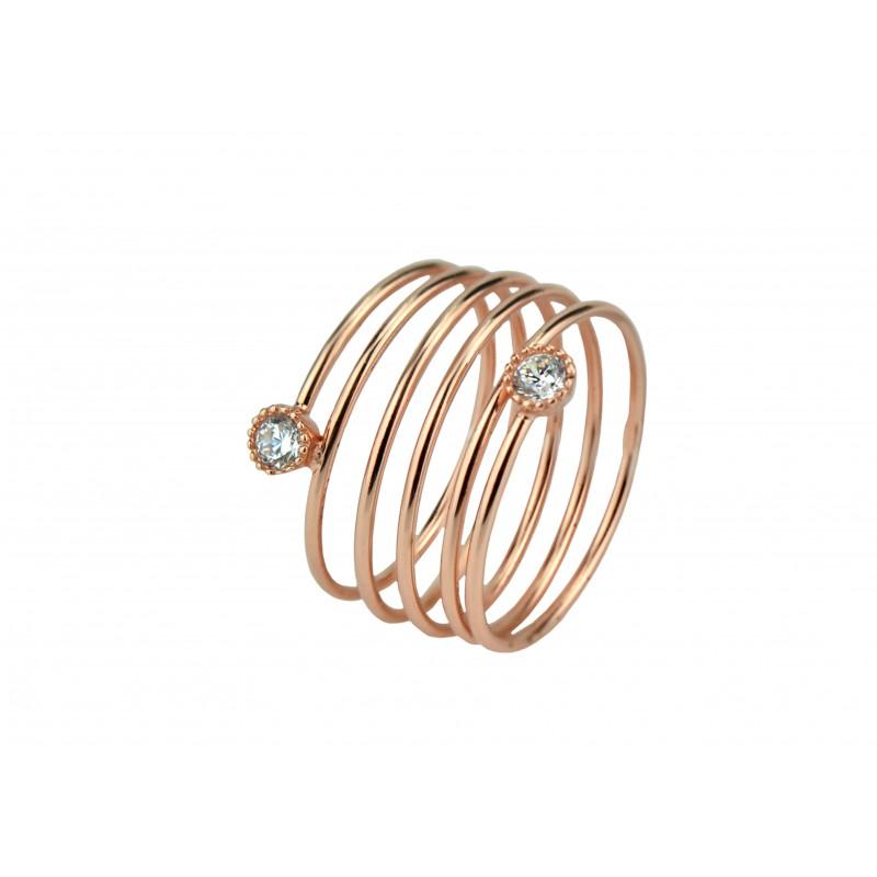 Кольцо серебряное с позолотой (К3Ф/268)