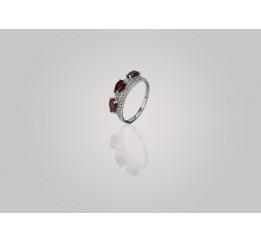 Кольцо серебряное с натуральным гранатом Гранатовая сладость (1360/1р гранат)