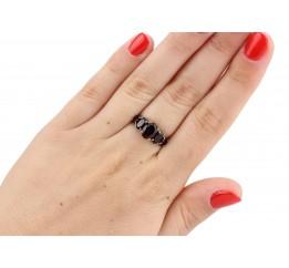 Кольцо серебряное с натуральным гранатом Каданс (1396/1р гранат)