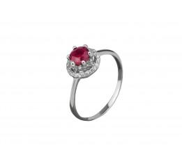 Кольцо серебряное с натуральным рубином Джени (1727/9р рубин)