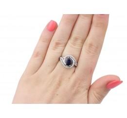 Кольцо серебряное с натуральным сапфиром Шантье (1722/9р сапфир)