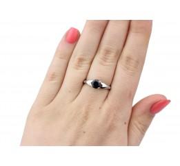 Кольцо серебряное с  натуральным сапфиром Карэлла (1853/9р сапфир)