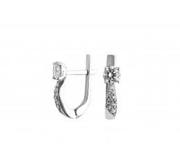 Серьги серебряные с цирконием Анечка (2121/9р)