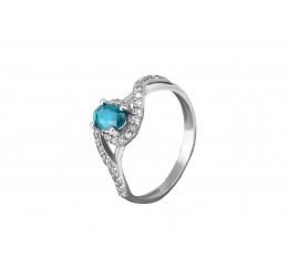 Кольцо серебряное с голубым кварцем Лезгинка (1914/9р QSWB)