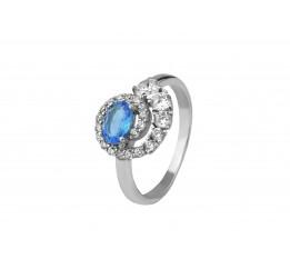 Кольцо серебряное с голубым кварцем Доротея (1347/1р QSWB)