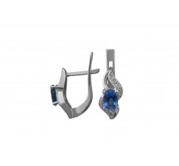 Серьги серебряные с кварцем London blue Вита (2487/9р QLB)