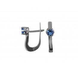 Серьги серебряные с кварцем London blue Варя (2227/9р QLB)