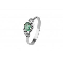 Кольцо серебряное с зелёным кварцем Рената (1294/1р з кварц )