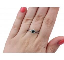 Кольцо серебряное с зелёным кварцем Лея (1840/9р з кварц )