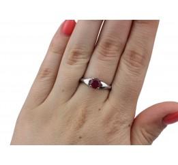 Кольцо серебряное с натуральным рубином Карэлла (1853/9р рубин)