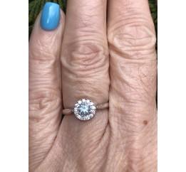 Кольцо серебряное с натуральным топазом Солнышко (1459/9 р топаз)