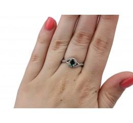 Кольцо серебряное с зелёным кварцем Лезгинка (1914/9р з кварц )