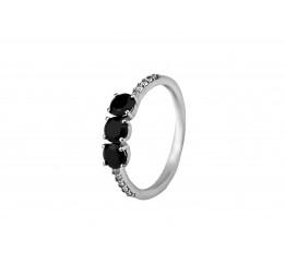 Кольцо серебряное с цирконием Стримлайн (1349/1рч)