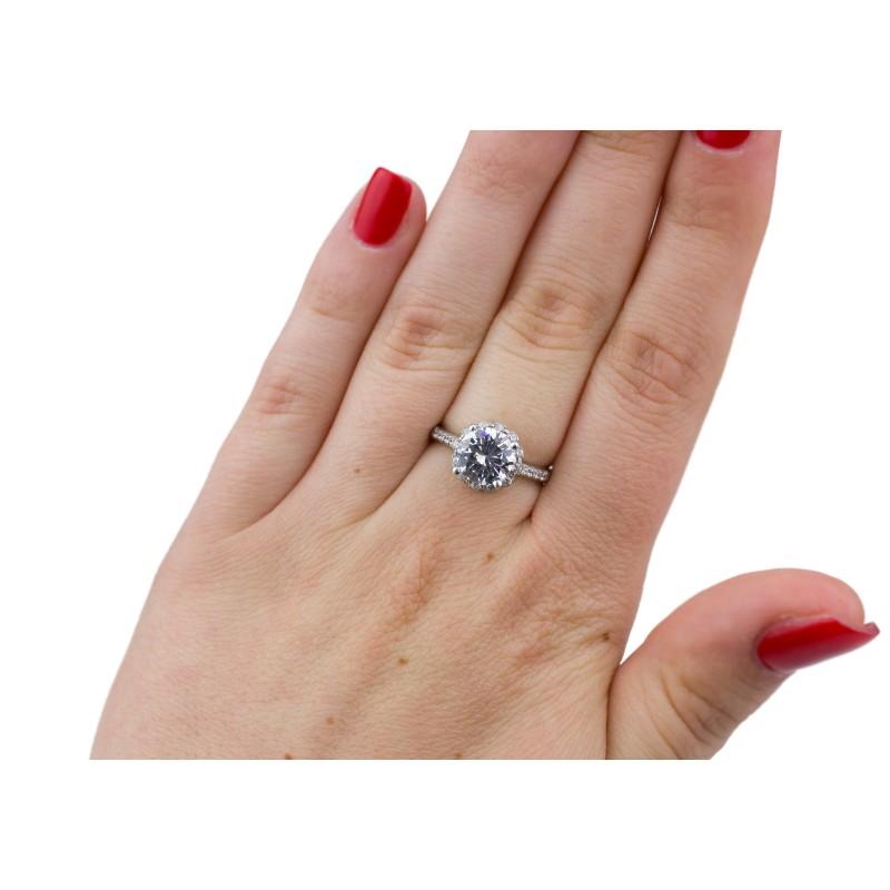 Кольцо серебряное с цирконием Любонька (1081/1р)