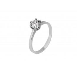 Кольцо серебряное с цирконием Какао (1107/1р)