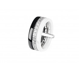 Кольцо серебряное с керамикой и фианитами Версаль (кчб1162)
