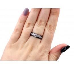 Кольцо серебряное с керамикой и фианитами Бристоль (кч023)
