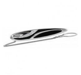 Зажим для галстука серебряный с эмалью (9617р)