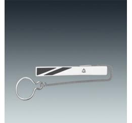 Зажим для галстука серебряный с эмалью (9615р)
