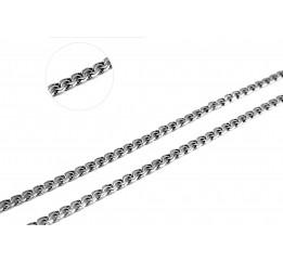 Цепочка серебряная Плоский бисмарк (802слч)