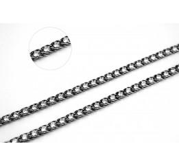 Цепочка серебряная с цирконием Арабка (1803чб)