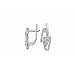 Серьги серебряные с цирконием Имидж (2762/9р)