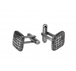 Запонки серебряные Крокодил (0275.10)