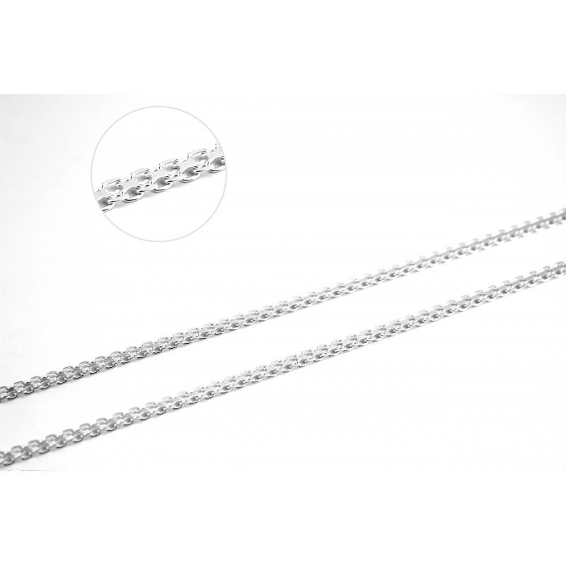 Цепочка серебряная Двойной якорь1 (BS2R60)