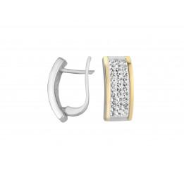 Серьги серебряные с золотом Каролина (548с)