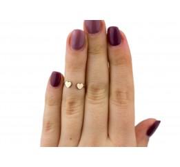Кольцо серебряное с золотом на фалангу (1111к)