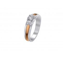 Кольцо серебряное с золотом  Донна (579к)