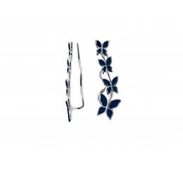 Серьги серебряные каффы (1173тс)
