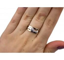 Кольцо серебряное с золотом (0069.10к)