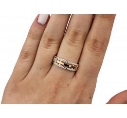 Кольцо серебряное с золотом (0162.10к)
