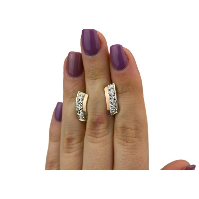 Серьги серебряные с золотом (0230.10с)