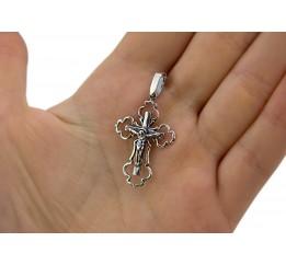 Крестик серебряный (3133ч)