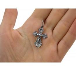 Крестик серебряный (0355ч)