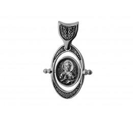 Ладанка серебряная Святой Николай  (3347м)