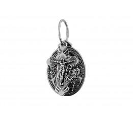Ладанка серебряная Богородица и Крест (3756ч)