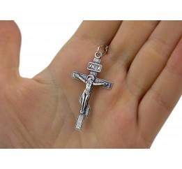 Крестик серебряный (35056ч)